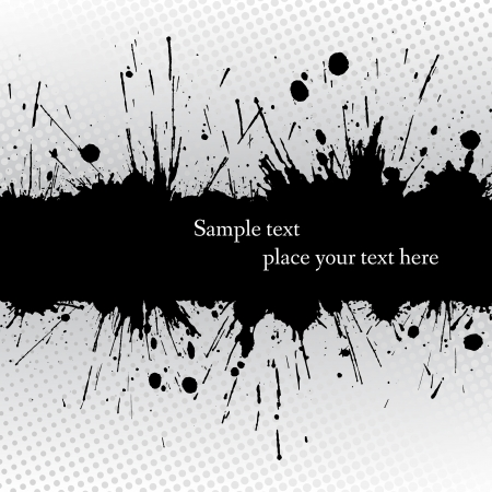 Ink grunge banner. Abstract vector illustration. Vector