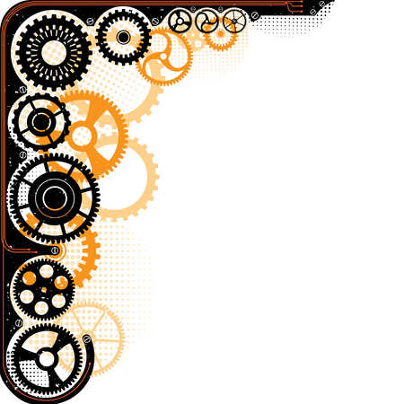 Mechanical cog wheel frame. Abstract vector illustration. Vector