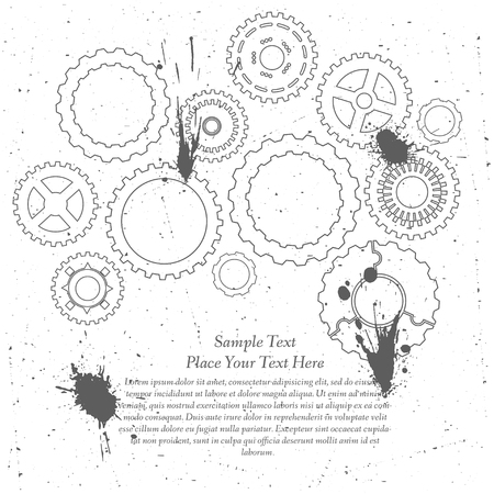 Gears cogs and pinions sketch. Abstract vector illustration. Stock Vector - 22303474