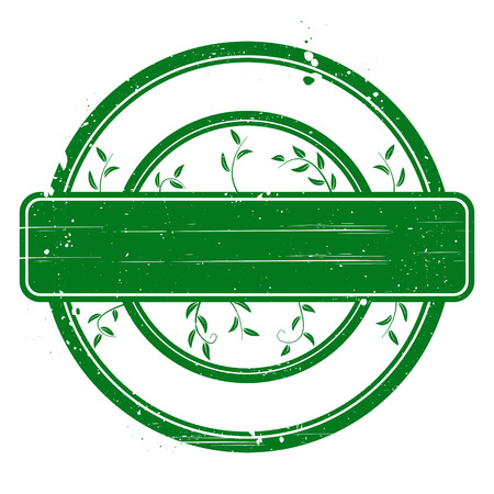 acceptation: Green grunge stamp on white  Abstract vector illustration