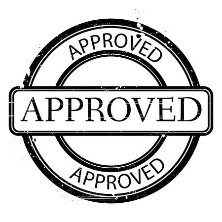 acceptation: Black grunge stamp on white  Abstract vector illustration  Illustration