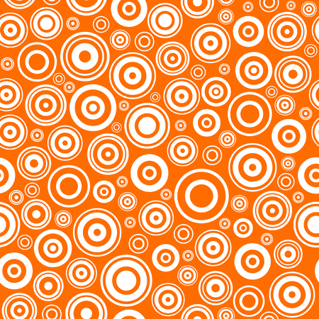 Seamless texture with concentric circles. Abstract vector illustration.