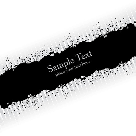 Slanting gray ink grunge banner. Abstract vector illustration. Illusztráció
