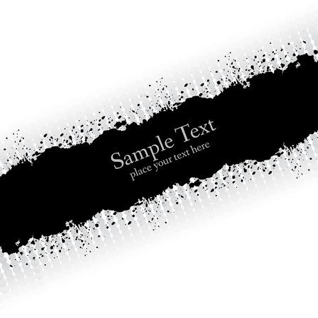 skew: Slanting gray ink grunge banner. Abstract vector illustration. Illustration