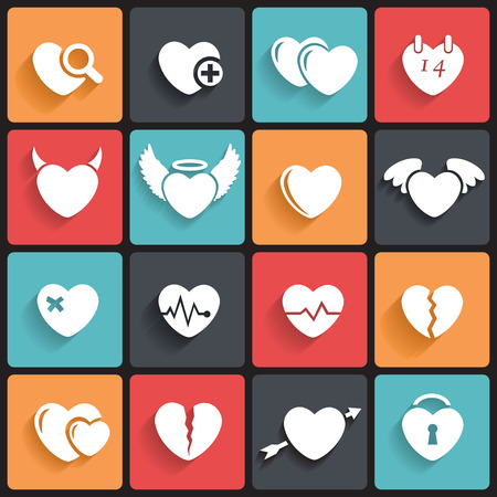 Heart Icons   Symbols  Abstract vector illustration  Vector