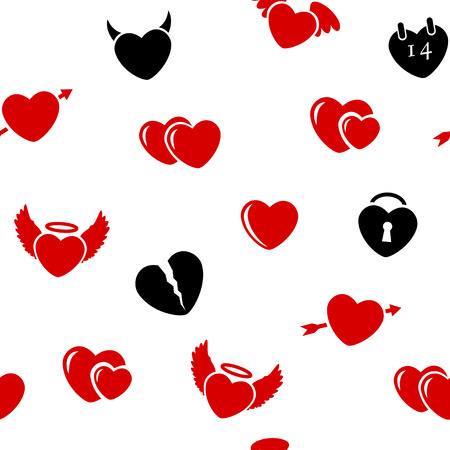 Seamless background with hearts  Abstract vector illustration  Vector