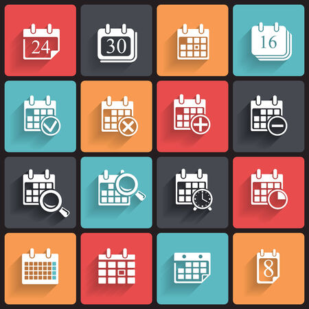 Calendar Icons   Symbols  Abstract vector illustration  Stock Vector - 26498140