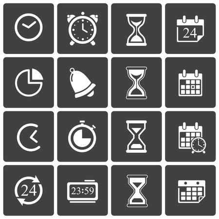 Time Icons & Simbols. Abstract vector illustration. Vector