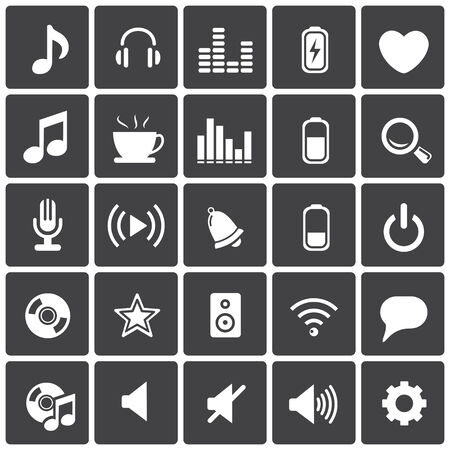 computer speaker: Music Icons & Simbols. Abstract vector illustration. Illustration