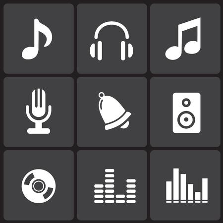 Music Icons & Simbols. Abstract vector illustration. Vector