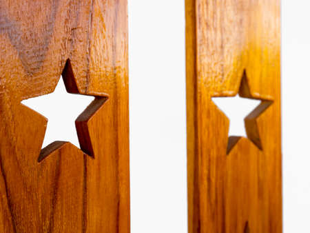 teak wood: Teak wood cut into star, background