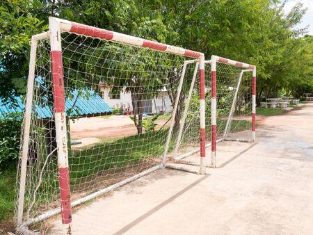 goalpost: Soccer goalpost.