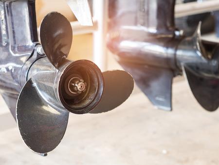 ボート エンジンのプロペラ。
