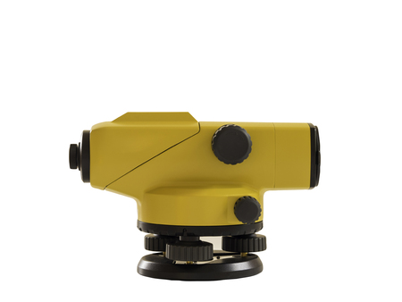 theodolite isolated on white background. clipping path.