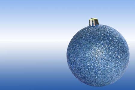 chrismas sphere blue one ball shiny