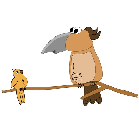 birds on the branch Illustration
