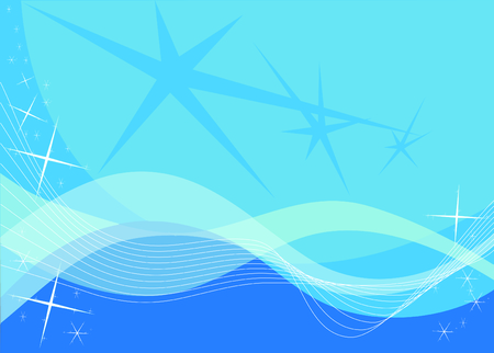 waves and stars backgrounds Stock Vector - 2071202