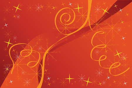 vector illustration red christmas background