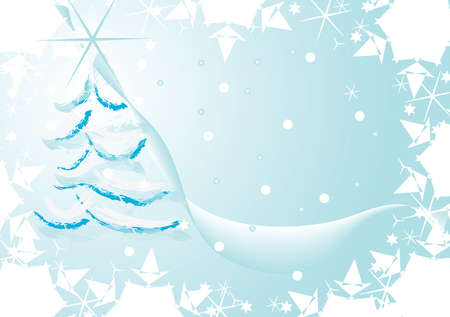 vector illustration of christmas tree Stock Photo