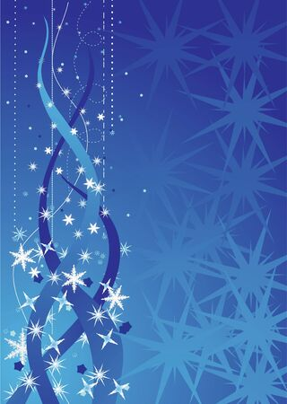 vector illustration of the christmas abstract