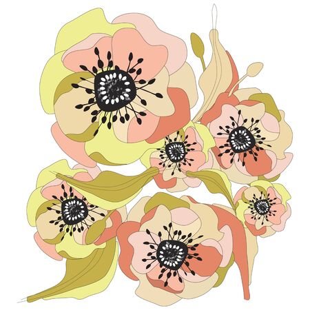 abstract rose: floral pattern vector