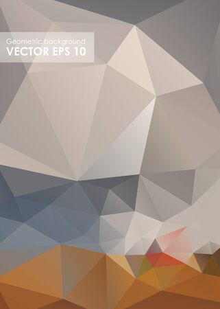 Abstract triangle background. Geometric pattern, polygon triangles vector background Stock Photo