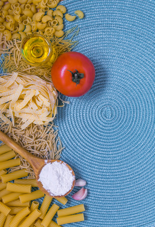 mixed dried pasta selection