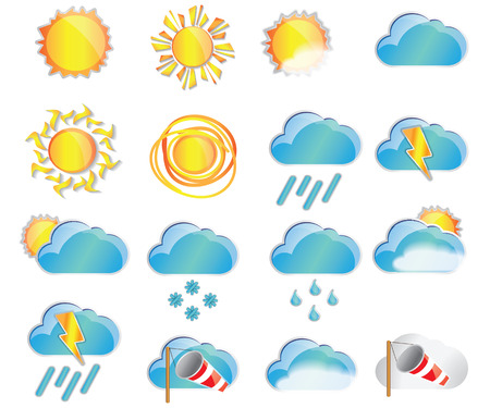 Weather set. Weather Icon Vector. Weather Icon Art. Weather Icon Picture.Weather Icon Image. Weather Icon logo. Weather Icon Flat. Weather Icon design. Weather icon app. Weather vector design. Ilustrace