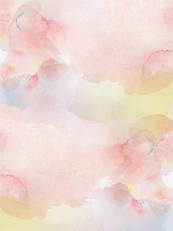 Watercolor abstract pink and yellow  background Hand drawn texture