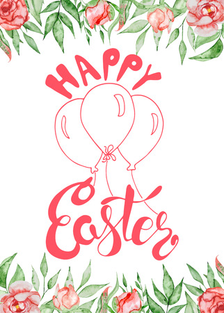 Hand Drawn Easter Quotes Greeting Cards Templates With Lettering