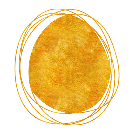 Doodle circle gold drawing sphere  with golden abstract texture 일러스트