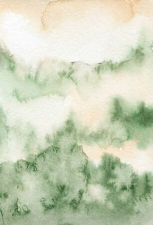 Watercolor green abstract texture Hand drawn background