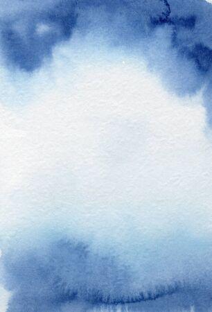 Fondo de textura abstracta azul acuarela dibujado a mano