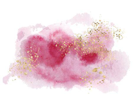 Watercolor abstract splash Color painting texture. Pink background decor Foto de archivo - 135356318