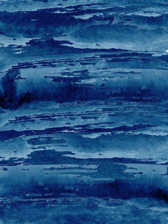 Watercolor abstract classic blue, background, hand drawn watercolour  texture illustration 版權商用圖片