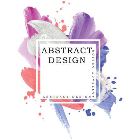 Absract design watercolor brush strokes composition hand drown Ilustração