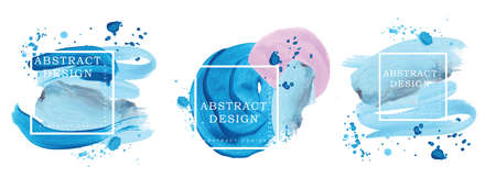 Absract design watercolor brush strokes composition hand drown Imagens