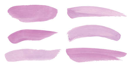 Absract design watercolor brush strokes composition hand drown Ilustracja