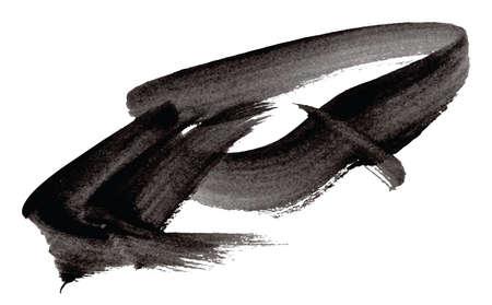 Black vector watercolor brush strokes