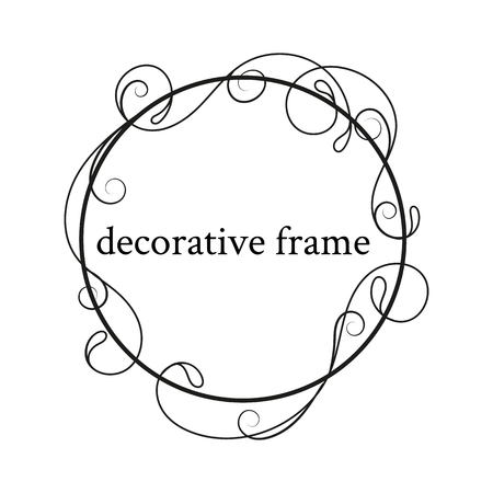 Decorative frame, place for text. Floral border.