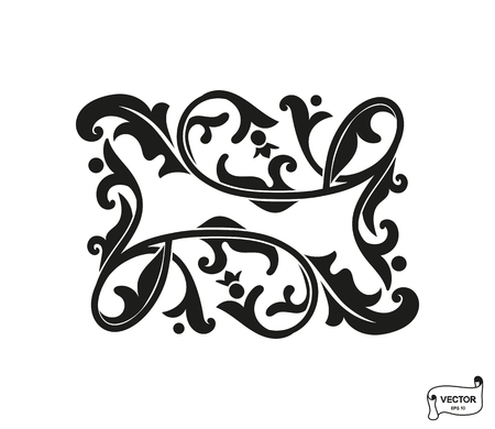Vector elements. Curls and scrolls ornament for design and decoration.