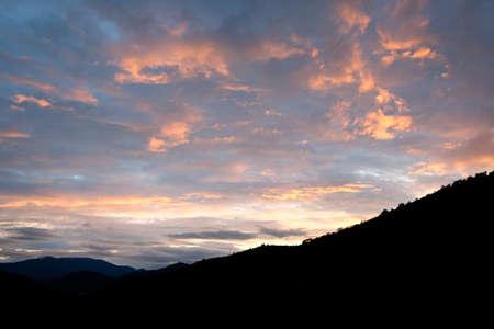 Autumnal sunset at Applegate, Oregon, USA Stock Photo