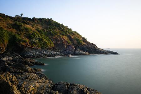 Seashore of the Arabian Sea. From a cliff. Gokarna (Karnataka, India) Stock Photo