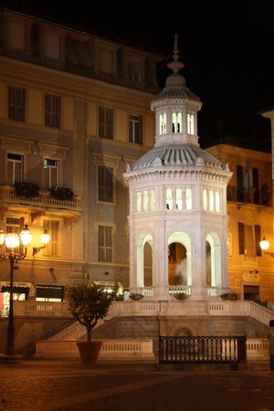 monumental: A famous monumental mountain in Acqui Terme Town, Itali Piedmont with his hot (75 degrees) sulfureous water