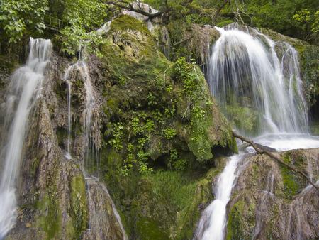 falling tide: Waterfall near the beautiful village Krushuna in Bulgaria
