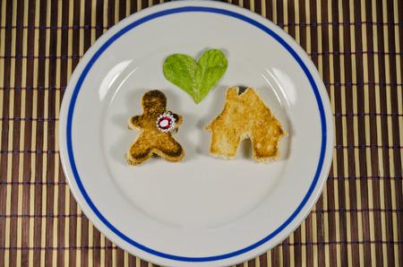 Just a little break of romance - breakfast with love photo