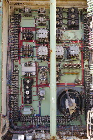 dilapidated: An old dilapidated control board