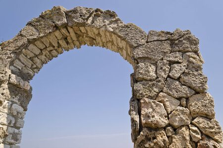headland: Ancient arch in fortress on Kaliakra headland