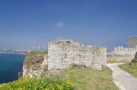 bulwark: Remains of the medieval fortress on cape Kaliakra, Bulgaria