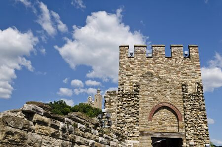 veliko: Main gate of Tsarevets fortress, Veliko Tarnovo, Bulgaria Stock Photo